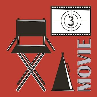 Cadeira do diretor do filme