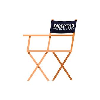Cadeira do diretor semi-plana cor rgb
