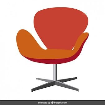 Cadeira moderna vermelha