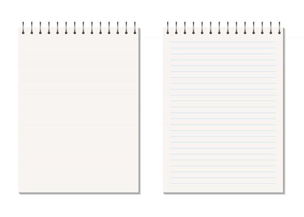Caderno aberto realista de vetor