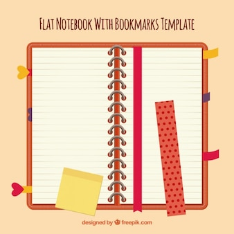 Caderno com capa vermelha