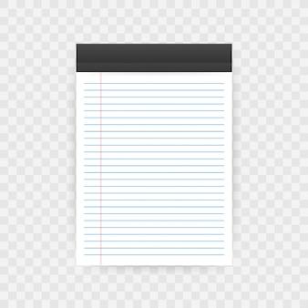 Caderno com espaço para texto