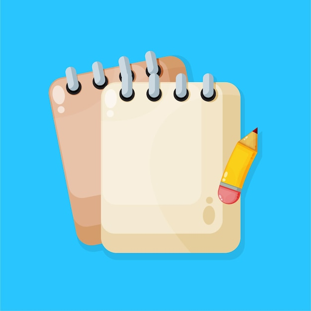 Caderno com um ícone de lápis