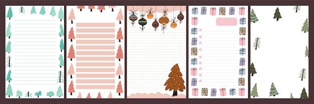Caderno de notas de celebração do feriado de natal, letra bonita, estilo escandinavo