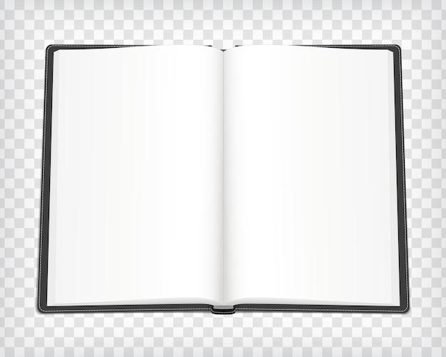 Caderno em branco isolado