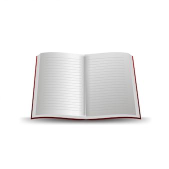 Caderno escolar isolado