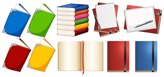 Caderno lido conjunto coleção em branco