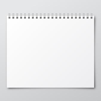 Caderno. maquete de caderno de papel.