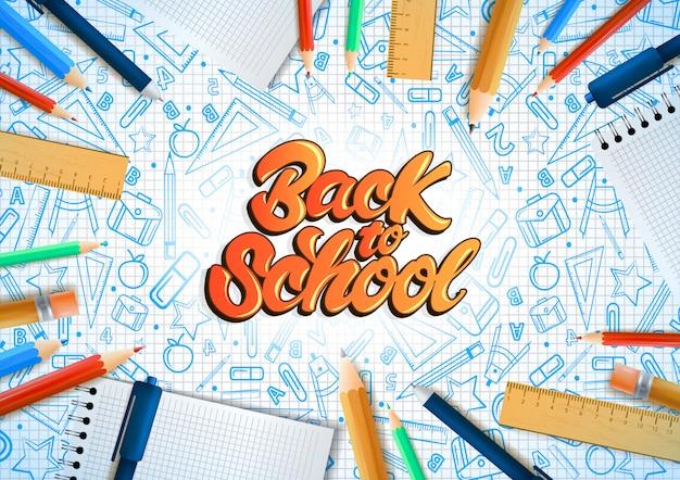 Cadernos com lápis deferentes