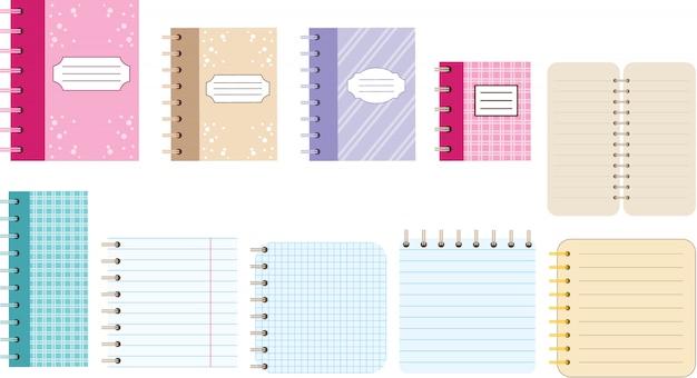 Cadernos de papel. diários.