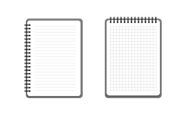 Cadernos realistas com capa dura.