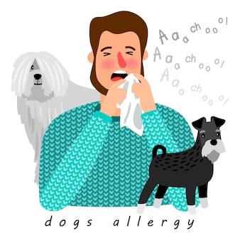 Cães alergia doença