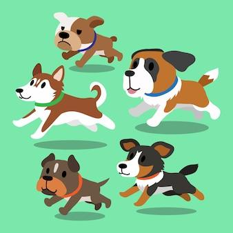Cães dos desenhos animados correndo