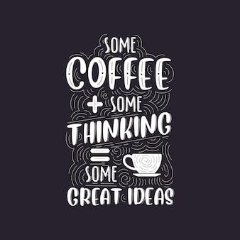 Café cita um lindo desenho de letras