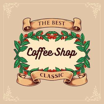 Café clássico com fita vintage