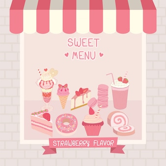 Café cor-de-rosa doce