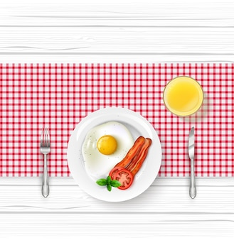 Café da manhã com um ovo frito