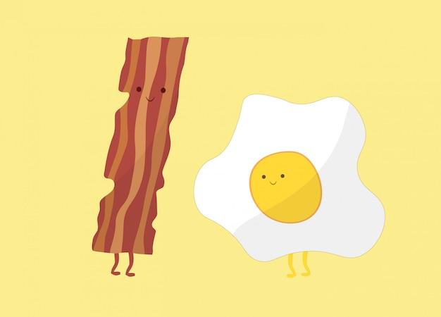 Café da manhã engraçado conjunto