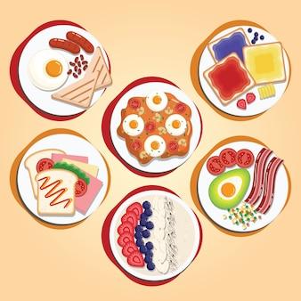 Café da manhã estilo americano