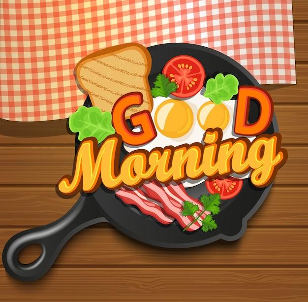Café da manhã inglês. vetor.