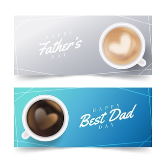 Café da manhã para banner do dia dos pais