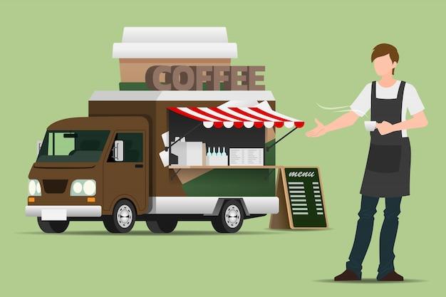 Café de caminhão de comida.