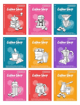 Café de modelo de cartaz