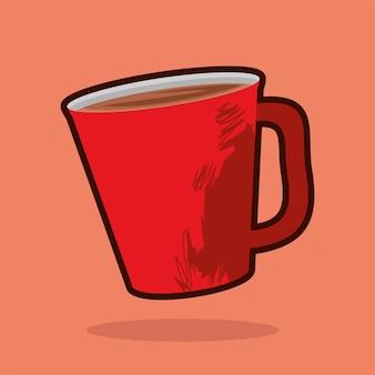 Café delicioso na caneca