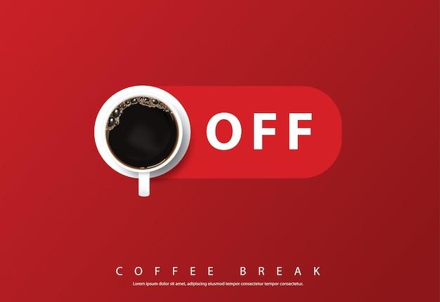 Café design pôster publicidade flayers ilustração