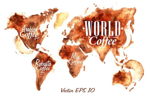Café do mapa mundial