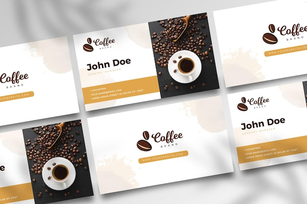Café dupla face businesscard v