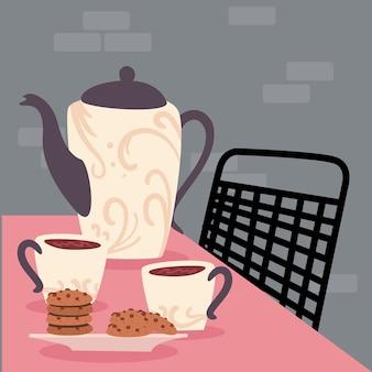 Café e biscoitos