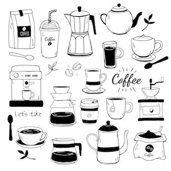 Café e café casa padrão vector