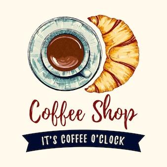 Café e croissant