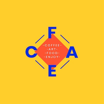 Café e design de logotipo de arte