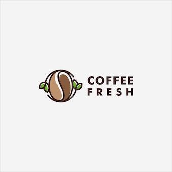 Café e logotipo de modelo de ícone de vetor logotipo