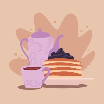 Café e panquecas