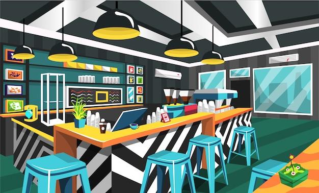 Café estilo limpo moderno