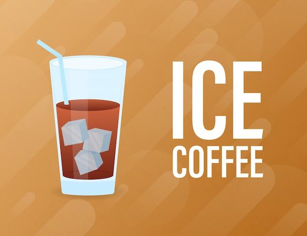 Café gelado gelado.