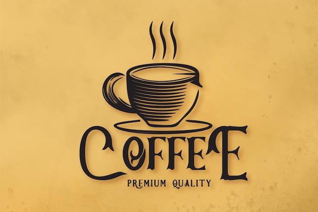 Café no vapor, xícara de café, caneca, logotipo da cafeteria designs inspiration