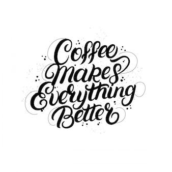 Café um abraço em uma mão de caneca escrita letras com xícara de café, raios de luz, sunburst.