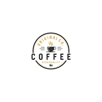 Café vintage logo badges stock vector