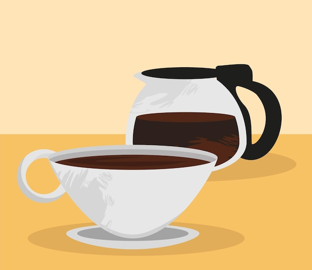 Cafeteira com xícara