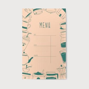 Cafeteria e café menu vector