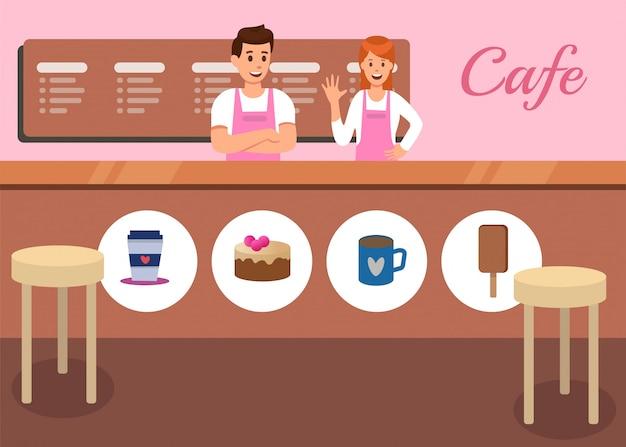 Cafeteria e café snack promoção vector
