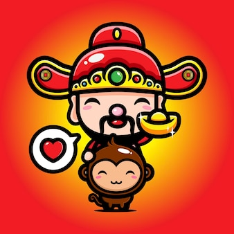 Cai shen projetou o deus da prosperidade