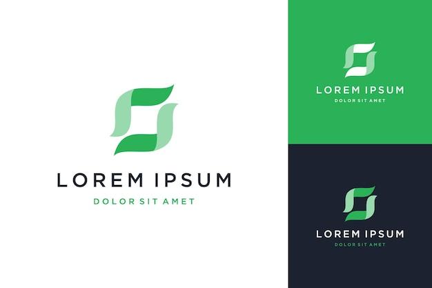 Caixa abstrata de design de logotipo moderno ou letra s