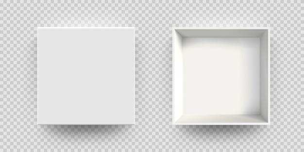Caixa branca mock-se modelo 3d de vetor