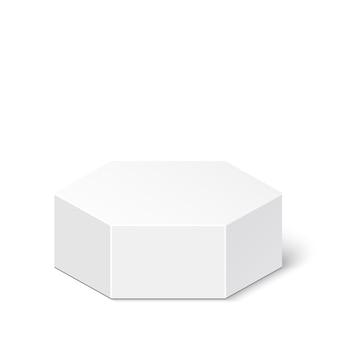 Caixa branca. pacote. poliedro. .
