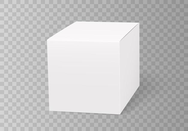 Caixa branca para embalagem, tamanho quadrado, entrega de produto e comida ou take away